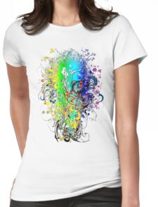 China_Marble Womens Fitted T-Shirt