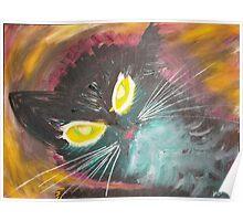 Cat Head I Poster