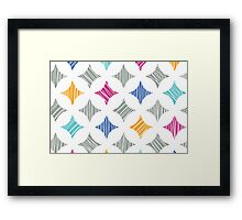 colorful marble tiles pattern Framed Print