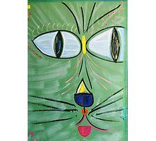 Green Beach Cat Head Photographic Print