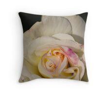 A White Rose Throw Pillow