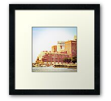 Boston Waterfront Framed Print