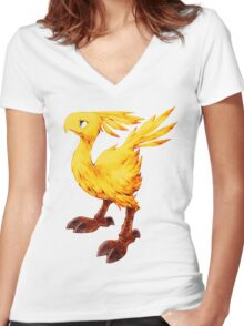 Chocobo Final Fantasy Tactics Women's Fitted V-Neck T-Shirt