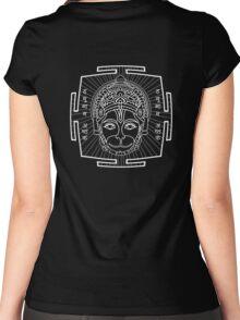 HANUMAN_MANTRA_2014 Women's Fitted Scoop T-Shirt