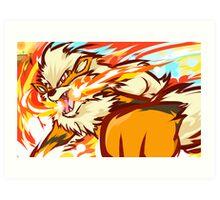 Arcanine | Fire Fang Art Print