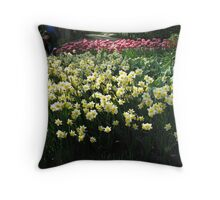Keukenhof Daffodils Throw Pillow