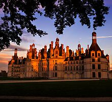 Chambord Castle, Loire Valley, at Sunset by audramitchell