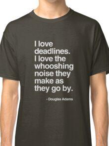 Douglas Adams Deadline Lover Classic T-Shirt
