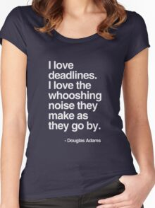 Douglas Adams Deadline Lover Women's Fitted Scoop T-Shirt