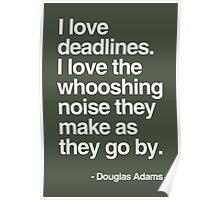 Douglas Adams Deadline Lover Poster
