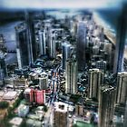 Apocalyptic Surfers Paradise - Tilt Shift by Craig Shillington