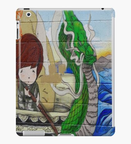 Asian graffiti young lad & dragon iPad Case/Skin