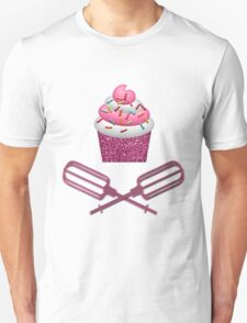Cupcake & Crossed Beaters In Pink Unisex T-Shirt