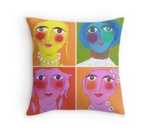Medley of Maidens Throw Pillow