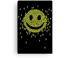 Happy Crowd Canvas Print