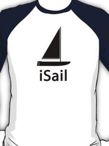 iSail BLACK T-Shirt