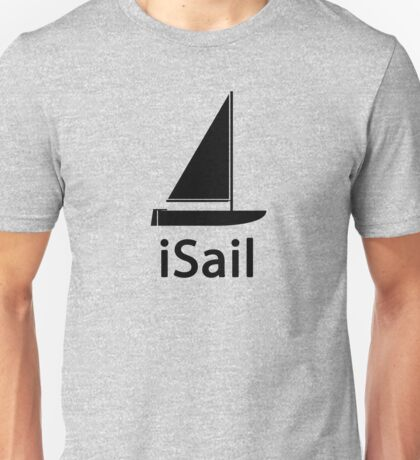 iSail BLACK Unisex T-Shirt