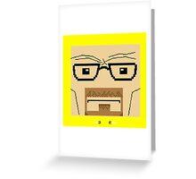 Breaking Bad Walter White Pixel Art Greeting Card