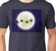 Flying Santa and Full Moon 2 Unisex T-Shirt