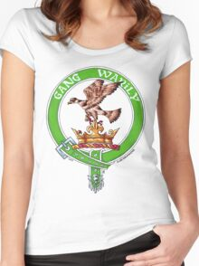Clan Drummond Scottish Crest Women's Fitted Scoop T-Shirt