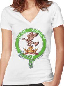 Clan Drummond Scottish Crest Women's Fitted V-Neck T-Shirt