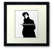 #sherlocklives Framed Print