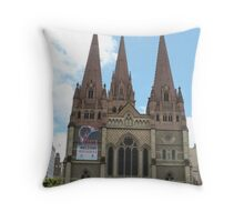 St. Paul's Cathedral! City Center, Melbourne, Victoria, Australia. Throw Pillow