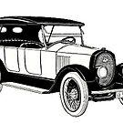 Vintage Motor Car of 1920 by Kawka