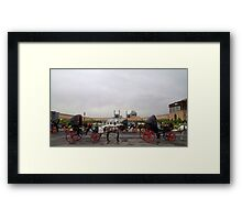 Horse and Carriage, Isfahan, Iran Framed Print