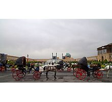 Horse and Carriage, Isfahan, Iran Photographic Print