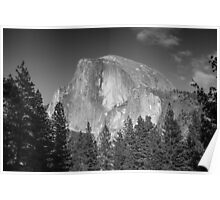 Half Dome in Black and White Poster