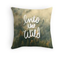 Into the wild Tumblr Forest Nature Outdoors tree print Throw Pillow