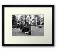 Just Warming Up Framed Print