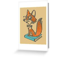 Fox Librarian Greeting Card