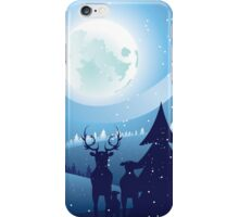Deers in Winter Forest 2 iPhone Case/Skin