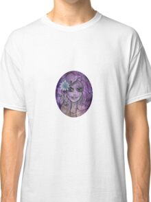 Flower purple girl Classic T-Shirt