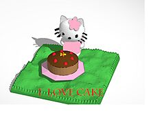 HELLO KITTY LOVES CAKE by LokiLaufeysen