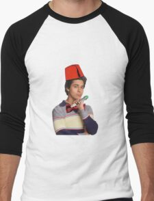 Fez wearing a fez and being the doctor  Men's Baseball ¾ T-Shirt