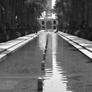 Persian Reflecting pool with Wind Tower by Jane McDougall