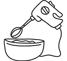 Mixing Bowl And Handmixer by Style-O-Mat