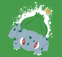 Bulbasaur Splatter by adhpv
