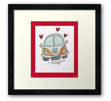 Camper Van with Love  Framed Print