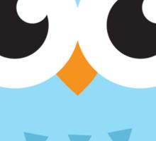 Blue owl with mortar board hat, cute cartoon illustration sticker Sticker