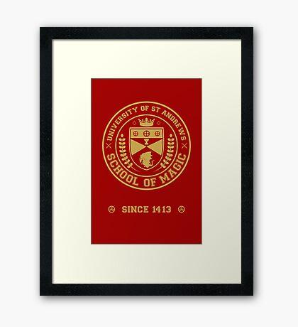 University of St Andrews School of Magic ver 2.0 Framed Print