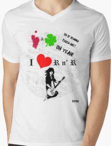 i heart Joan Jett Mens V-Neck T-Shirt