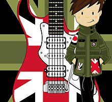 Mod Boy with Guitar by MurphyCreative