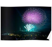 Fireworks at Calton Hill Poster