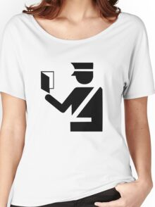 Immigration Symbol Women's Relaxed Fit T-Shirt