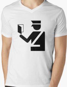 Immigration Symbol Mens V-Neck T-Shirt