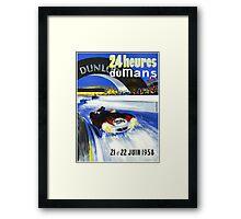 24 Hours of LeMans - 1958 Poster Art Framed Print